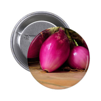 Bunch of red onion pinback button