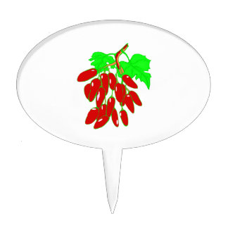 Bunch of red peppers cake topper