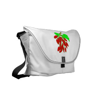 Bunch of red peppers courier bags