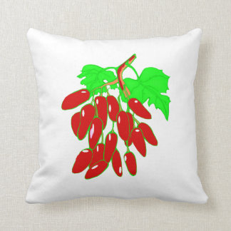 Bunch of red peppers throw pillow