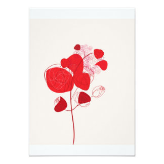 """bunch of red roses invitación 5"""" x 7"""""""