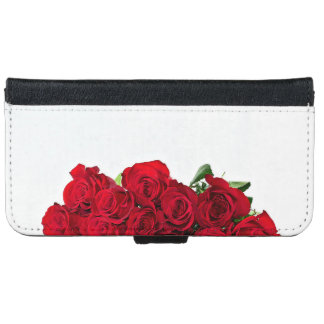 Bunch Of Red Roses iPhone 6 Wallet Case