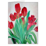 Bunch of Red Tulips Greeting Card