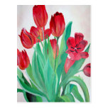 Bunch of Red Tulips Postcard
