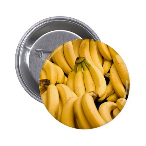 Bunch Of Ripe Bananas Pinback Button