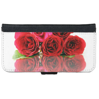 Bunch Of Rose Flowers And Their Reflection On The iPhone 6 Wallet Case