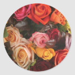 Bunch Of Roses Classic Round Sticker