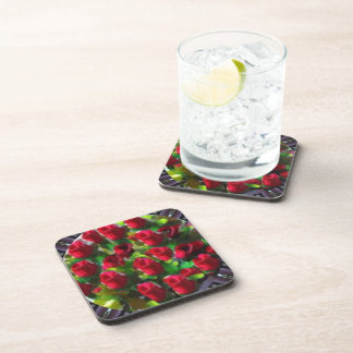 Bunch Of Roses Floral Cork Coaster