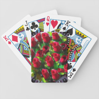 Bunch Of Roses Floral Playing Cards