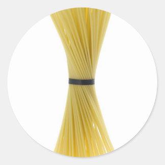 Bunch of spaghetti classic round sticker