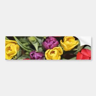 Bunch of Tulips Bouquet Bumper Sticker