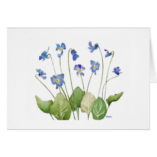 Bunch of Violets Thank You Card