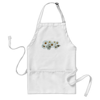 Bunch of White Daisies Adult Apron