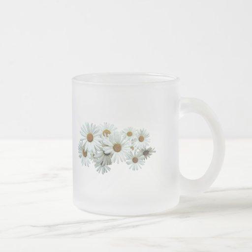 Bunch of White Daisies Coffee Mugs
