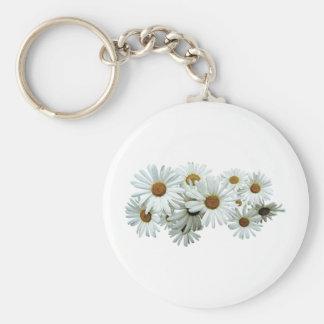 Bunch of White Daisies Keychain