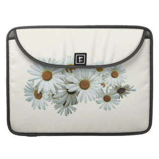 Bunch of White Daisies Sleeves For MacBooks