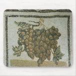 Bunch of white grapes, Roman mosaic Mousepad