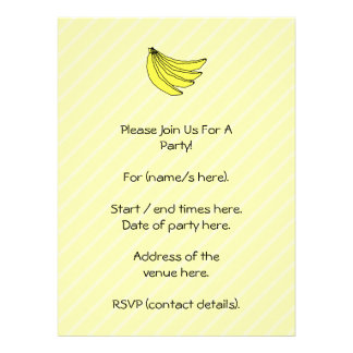 Bunch of Yellow Bananas. Personalized Announcements