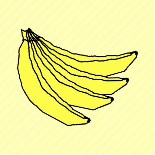 Bunch of Yellow Bananas. Photo Cutout