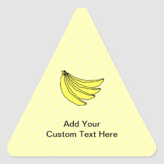 Bunch of Yellow Bananas Triangle Stickers