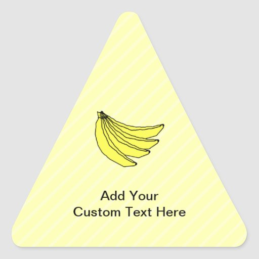 Bunch of Yellow Bananas. Triangle Stickers