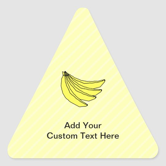 Bunch of Yellow Bananas. Triangle Sticker