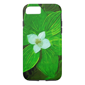 Bunchberry White Wildflower Abstract Impression iPhone 7 Case
