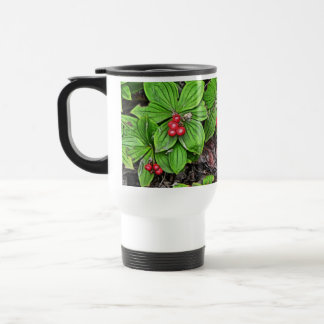 Bunchberry With Berries Mugs
