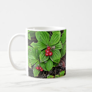 Bunchberry With Berries Coffee Mug