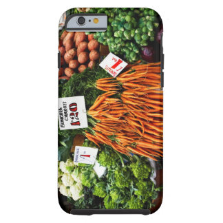 Bunches of carrots and vegetables on market tough iPhone 6 case