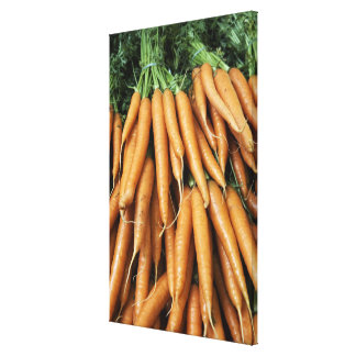 Bunches of carrots, full frame canvas print