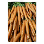 Bunches of carrots, full frame greeting card