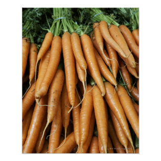 Bunches of carrots, full frame poster