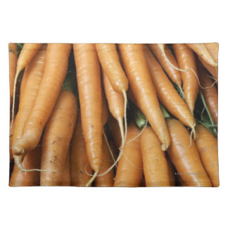 Bunches of carrots placemat