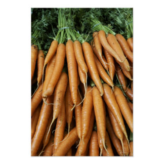 Bunches of carrots poster