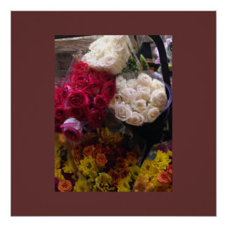 Bunches of Flowers Poster