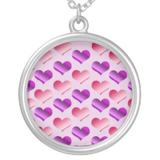 Bunches of Hearts Silver Plated Necklace