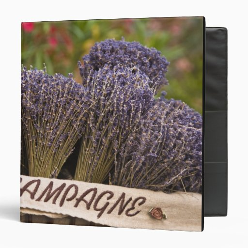 Bunches of lavender for sale, Vence, Provence, 3 Ring Binders