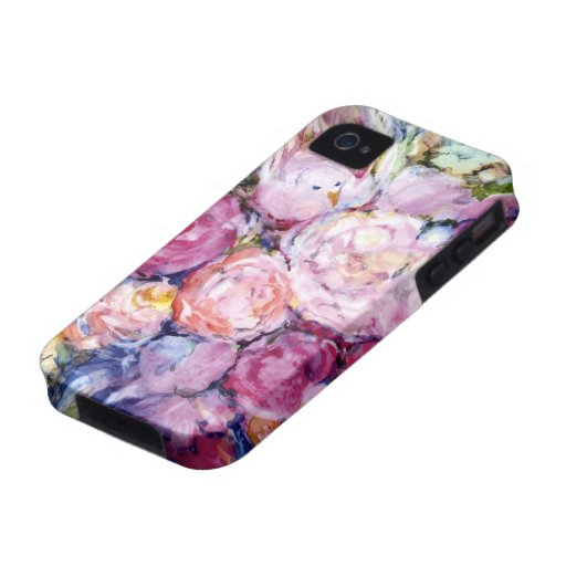 Bunches of Pink Flowers and Pink Bird Case-Mate iPhone 4 Cover