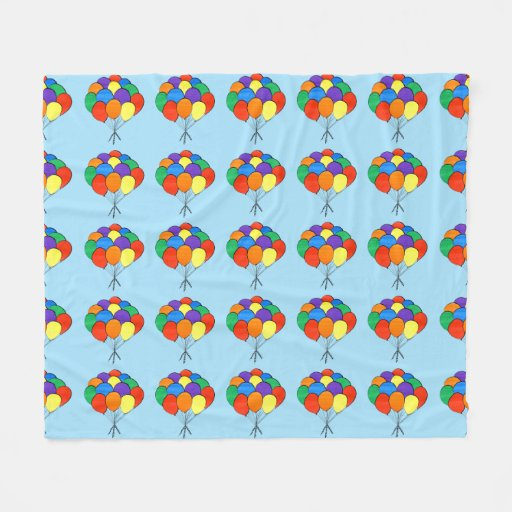 Bunches of Rainbow Colored Balloons Fleece Blanket