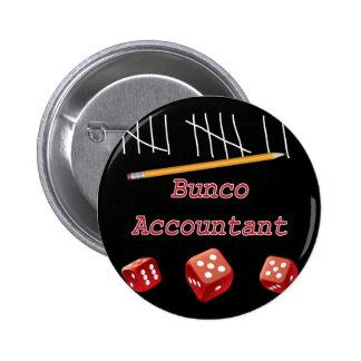 Bunco Accountant 2 Inch Round Button