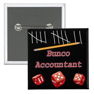Bunco Accountant 2 Inch Square Button