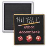 Bunco Accountant 2 Inch Square Magnet
