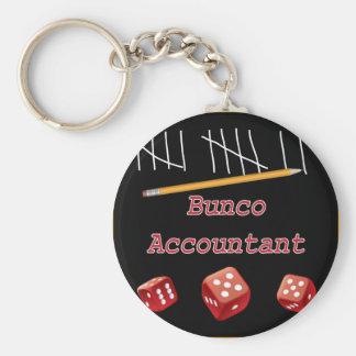 Bunco Accountant Basic Round Button Keychain