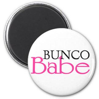 Bunco Babe 2 Inch Round Magnet