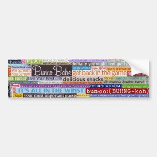Bunco Babe Bumper Sticker