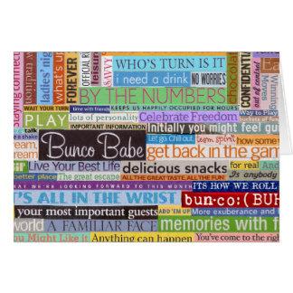 Bunco Babe Greeting Card