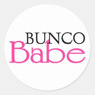 Bunco Babe Classic Round Sticker