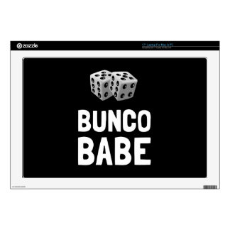 """Bunco Babe Dice Decal For 17"""" Laptop"""