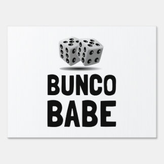 Bunco Babe Dice Signs